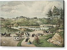 Central Park  The Lake, 1862  Acrylic Print