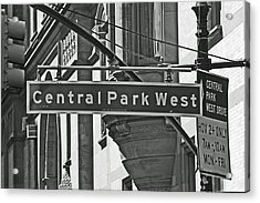 Central Park West Acrylic Print by Sharla Gentile