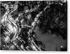 Acrylic Print featuring the photograph Central Park Trails by M G Whittingham