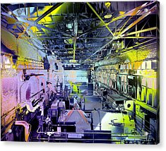 Acrylic Print featuring the photograph Grunge Central Power Station by Robert G Kernodle