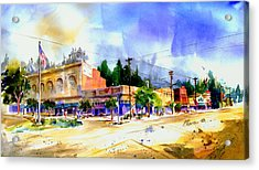 Central Square Auburn Acrylic Print