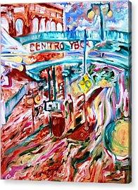 Centro Ybor Acrylic Print by Alfredo Dane Llana