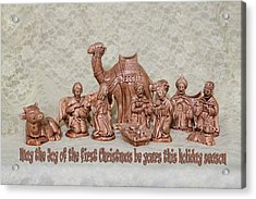 Ceramic Nativity Scene Acrylic Print by Linda Phelps