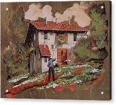 Cercando Tra Le Foglie Acrylic Print by Guido Borelli