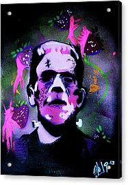 Cereal Killers - Frankenberry Acrylic Print by eVol i