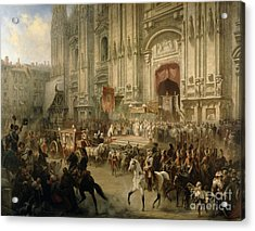 Ceremonial Reception Acrylic Print by Adolf Jossifowitsch Charlemagne