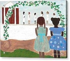 Ceremony In Sisterhood Acrylic Print by Kafia Haile