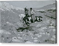 Ceremony Of The Fastest Horse Acrylic Print by Frederic Remington