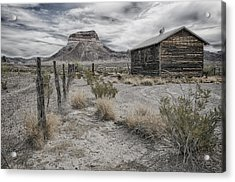 Acrylic Print featuring the tapestry - textile Cerro Castellan - Big Bend  by Kathy Adams Clark