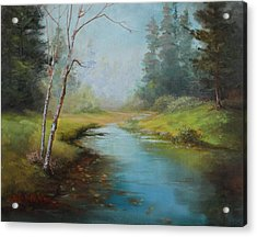 Cerulean Blue Stream Acrylic Print