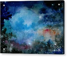 Cerulean Space Clouds Acrylic Print by Janet Hinshaw