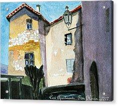 Cesi Apartments Italy Acrylic Print by Tom Herrin
