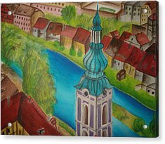 Cesky Krumlov Acrylic Print by Latha  Vasudevan