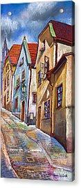 Cesky Krumlov Old Street 2 Acrylic Print