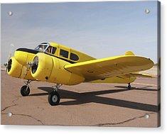 Cessna T-50 Bobcat N59188 Casa Grande Airport Arizona March 5 2011 Acrylic Print by Brian Lockett