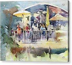 C'est La Vie Restaurant - Laguna Beach - California Acrylic Print by Natalia Eremeyeva Duarte