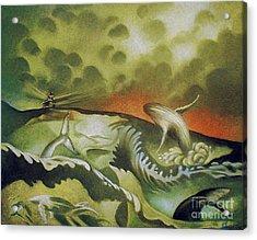 Cetacean Sunset Acrylic Print