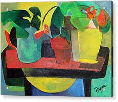 Cezanne Potting Stand Acrylic Print