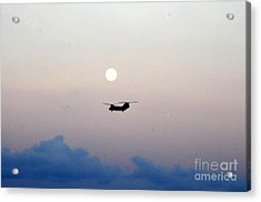 Ch-46 Sea Knight Helicopter Acrylic Print by Celestial Images