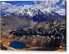 Chacaltalya Climb To 17800 Feet 14 Acrylic Print by Skip Hunt