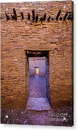 Chaco Canyon - Pueblo Bonito Doorways - New Mexico Acrylic Print