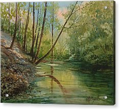 Chagrin River In Spring Acrylic Print