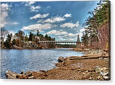 Chain Bridge On The Merrimack Acrylic Print