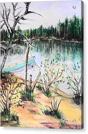 Chain Lakes Duck Mountain Mb Acrylic Print by Janice Robertson