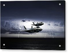 Acrylic Print featuring the digital art Chain Lightning by Peter Chilelli