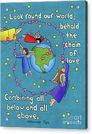 Chain Of Love Acrylic Print by Sarah Batalka