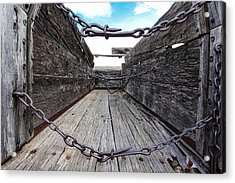 Chained Acrylic Print by Dennis Wagner