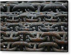Chains Acrylic Print by Hans Jankowski