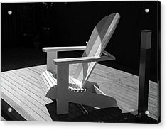 Chair In Black And White Acrylic Print