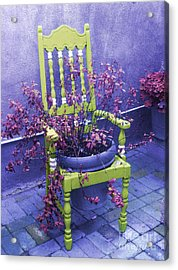 Chair In Chartreuse		 Acrylic Print