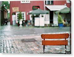 Chair In Trondheim Acrylic Print by Gregory Barger