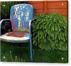 Chair Of Many Colors Acrylic Print by Patricia Strand
