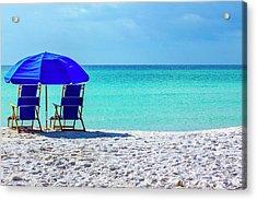 Beach Chair Pair Acrylic Print