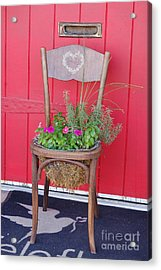 Acrylic Print featuring the photograph Chair Planter by Frank Stallone