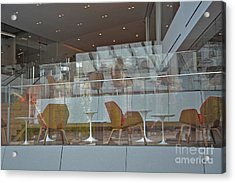 Chair Reflections Acrylic Print by Andrea Simon