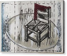 Chair Vii Acrylic Print by Peter Allan