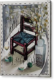 Chair X Acrylic Print by Peter Allan