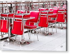 Chairs And Tables Acrylic Print by Tom Gowanlock