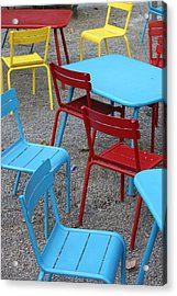 Chairs In Bryant Park Acrylic Print by Lauri Novak