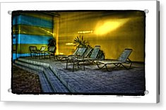 Chairs Acrylic Print by Jerry Golab