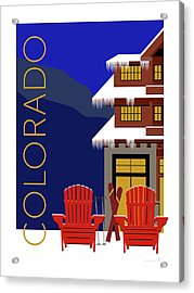 Colorado Chairs Acrylic Print