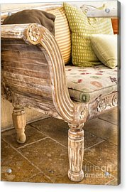 Chaise Longue Acrylic Print by Gillian Singleton