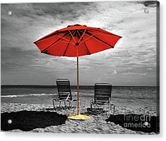 Chaise Lounge For Two Acrylic Print