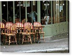 Chaises De Cafe Acrylic Print