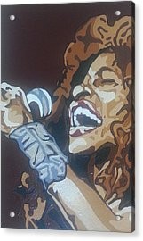 Acrylic Print featuring the painting Chaka Khan by Rachel Natalie Rawlins