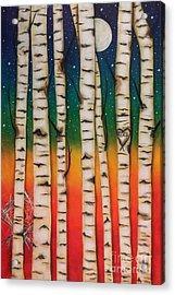 Chakra Rainbow Forest Acrylic Print